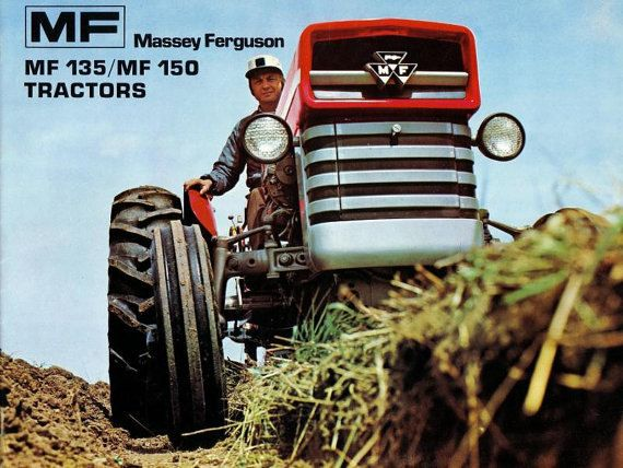 Poster a3 - Massey Ferguson 135 Tractor Advertising 3 For 2 Offer