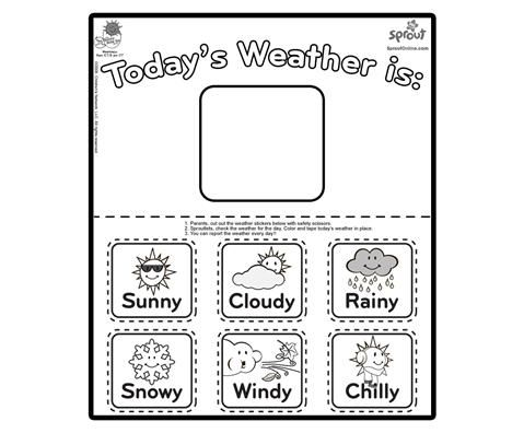 Preschool Weather Signs Printable Weather Charts For Preschool