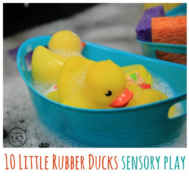 Toddler Spring Sensory Play With 10 Rubber Ducks Eric Carle Activities Rubber Duck Sensory Activities For Preschoolers