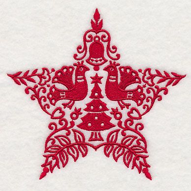 Scandinavian Christmas Star Design L6246 From Www Emblibrary Com Scandinavian Christmas Handmade Christmas Ornaments Nordic Christmas