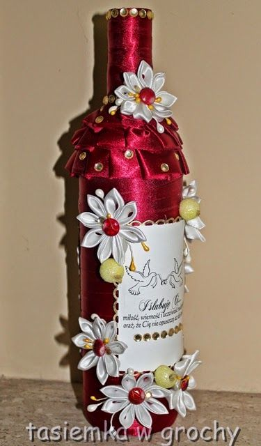 Modne ubrania Znalezione obrazy dla zapytania jak ubrać butelkę wina na wesele RM42