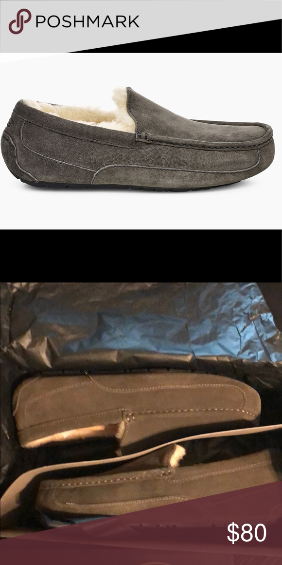 14a12c07f7b UGG Men's Ascot Slipper, Charcoal, Size 10 These are brand new in ...