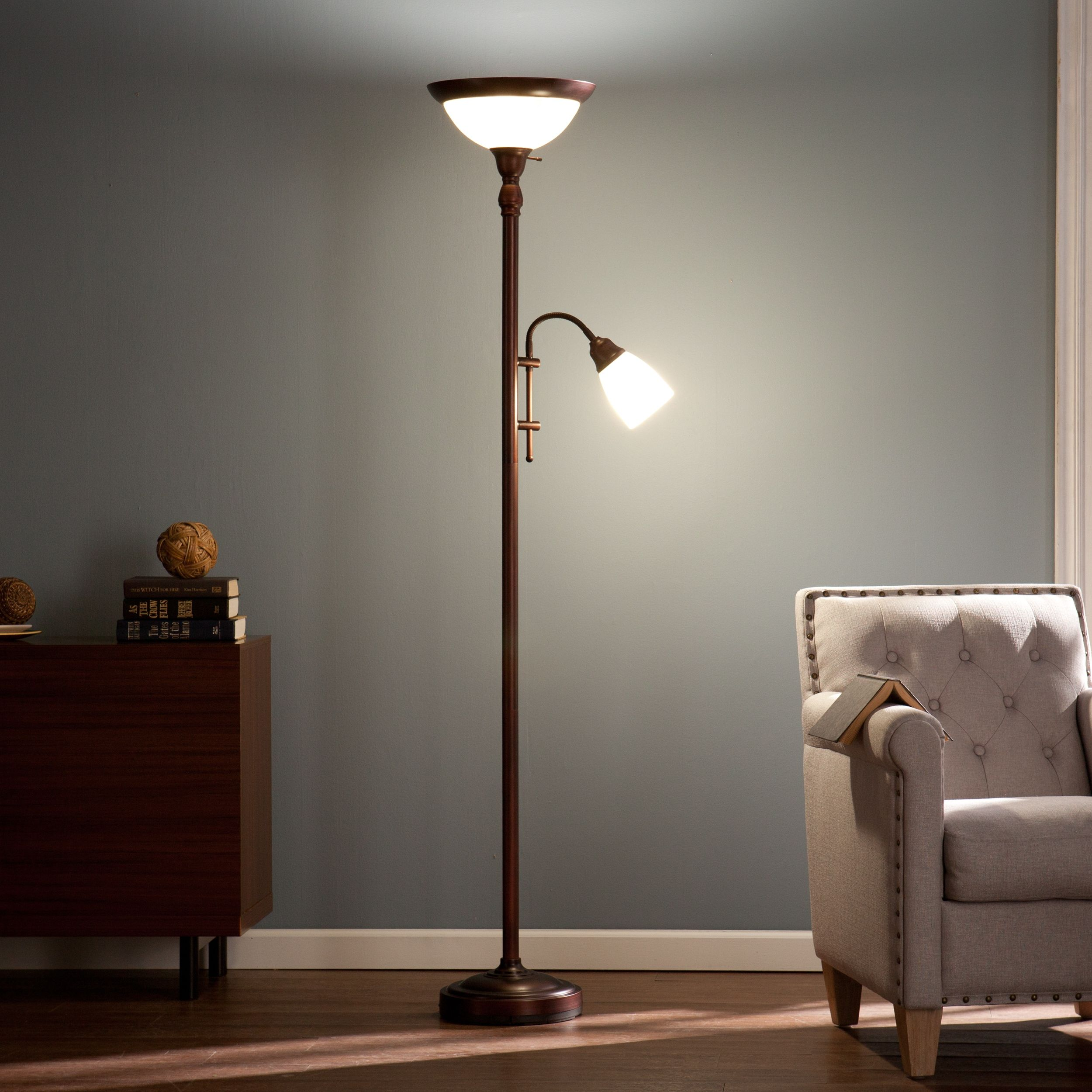 The Gray Barn Two Pines Floor Lamp Bronze