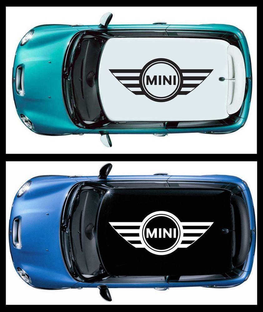 Pcs WINGS MINI COOPER LOGO Vinyl Roof Decals Graphic For Mini - Bmw mini roof decals