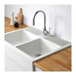 DomsjÖ Double Bowl White Ikea