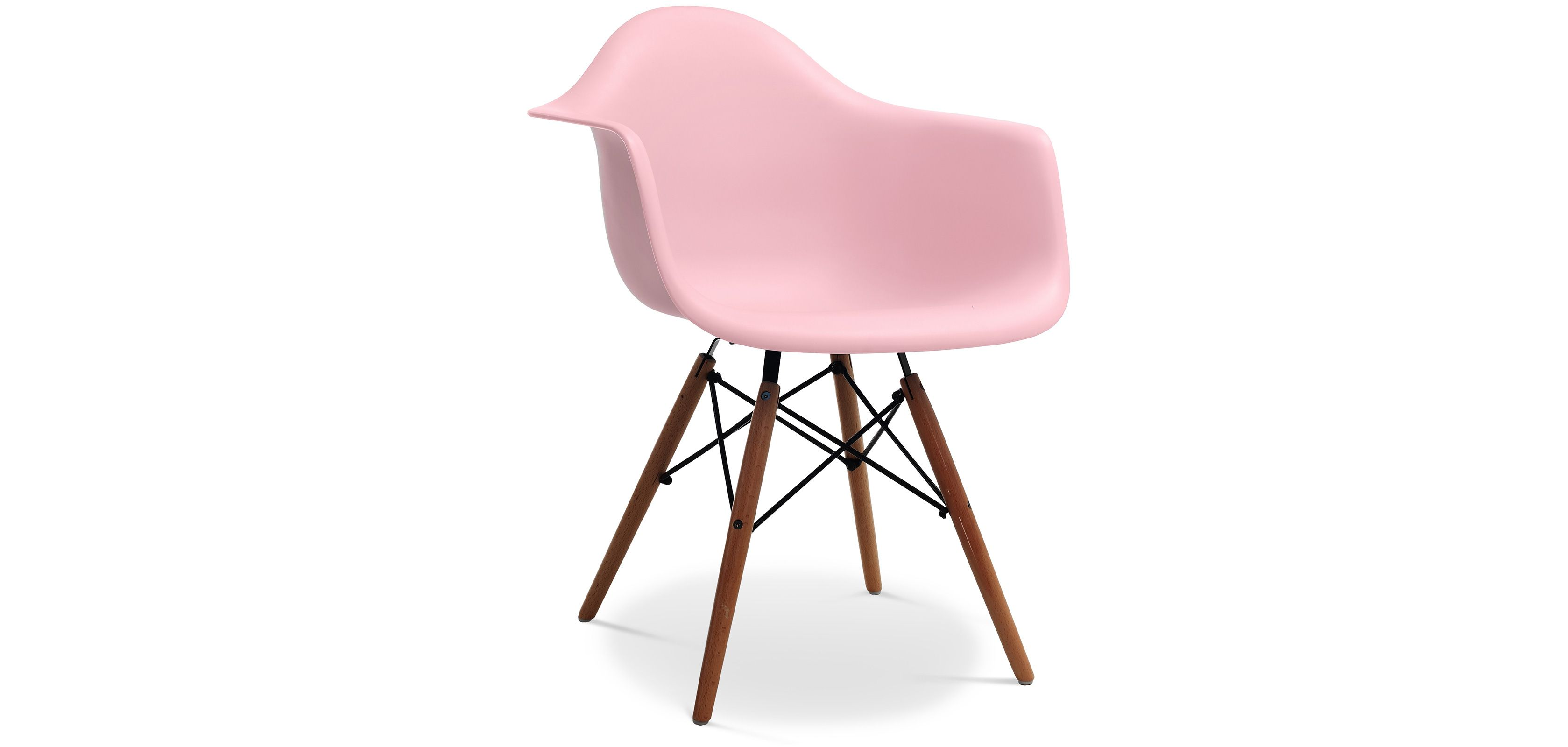 Chaise DAW Piètement foncé Charles Eames Style - Polypropylène Matt ...