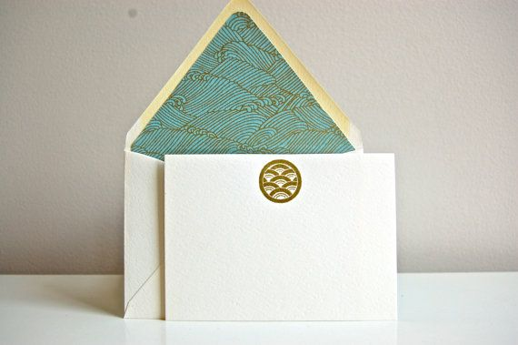7) Stunning Stationary: Japanese Notecard set - thepiedpaper on etsy. Subtle and sublime! Candy's Tours is extra excited about Japanese guests, giving me a chance to practice my language skills! 船を乗りましょう!#modcloth #makeitwork