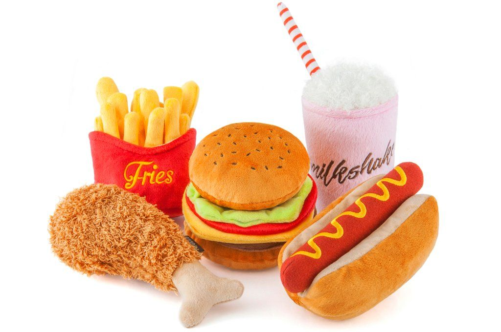 American Classic Hot Dog Plush Toy Cute Dog Toys Dog Food