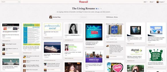 Use Pinterest To Enhance Your Digital Portfolio Digital Portfolio Visual Resume Resume