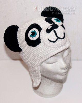 Panda-Mütze | Häkelei | Pinterest | Mütze häkeln, Mütze und ...