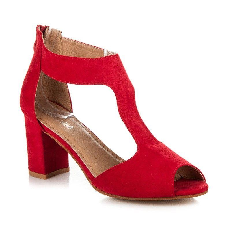 691633ad9f17 Červené sandále GIRLS 699-7R