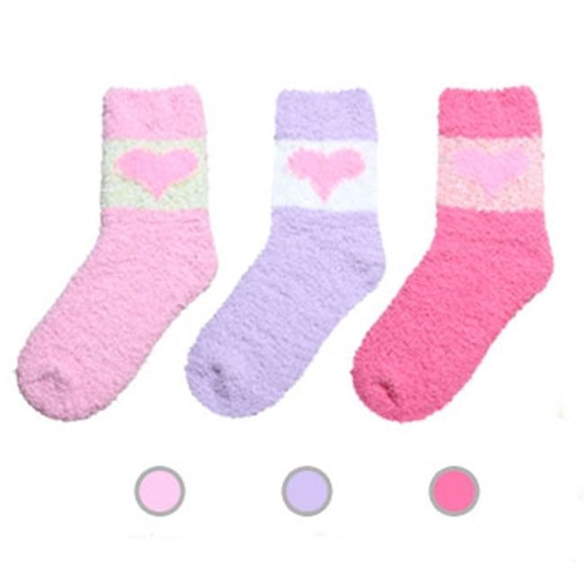 eb1741614 3 Pairs Lot Women Bed Sleep Fuzzy Soft Socks Made Korean Free Size GKSW024  #GlobalGlam
