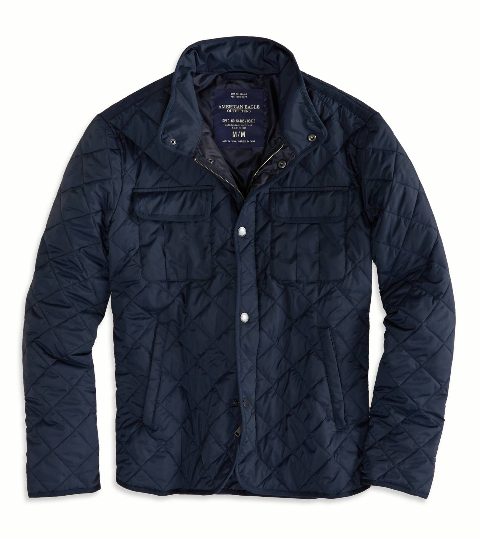 American Eagle Quilted Jacket Navy 62 97 Quilted Jacket Jackets Mens Outfitters [ 1739 x 1553 Pixel ]