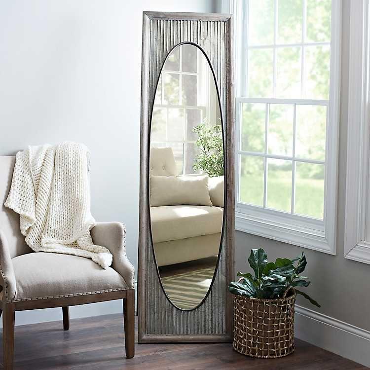 Galvanized Oval Cheval Mirror House Styles Cheval Mirror