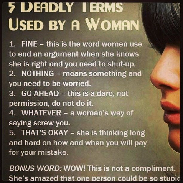 What women really mean when they say