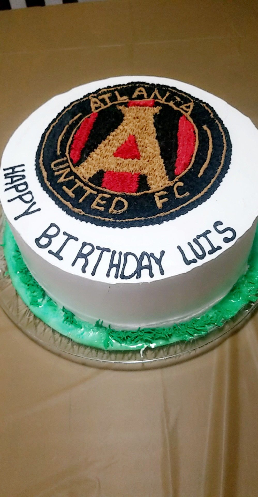 Magnificent Atlanta United Cake With Images Cake Decorating Classes Funny Birthday Cards Online Alyptdamsfinfo