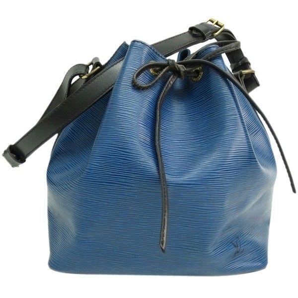 Pre-owned Louis Vuitton Petit Noe Epi Bi-color Shoulder Bag ($450) ❤ liked on Polyvore featuring bags, none, shoulder hand bags, shoulder strap bag, handbags shoulder bags, blue bag and pre owned bags