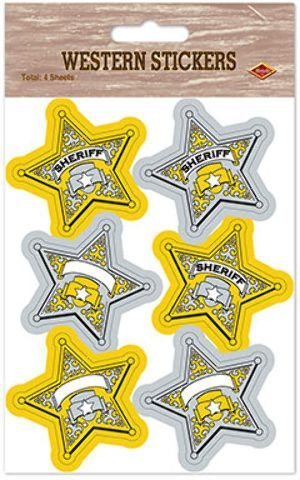 sheriff badge stickers Case of 12