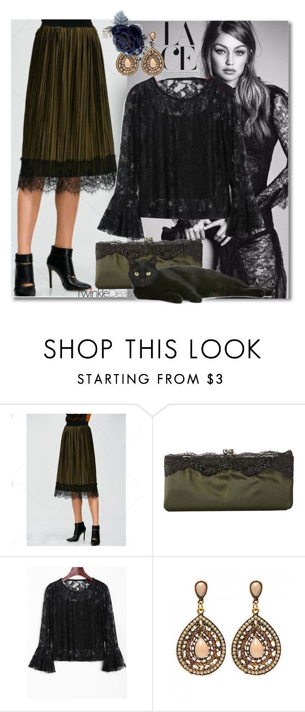 """""""Gorgeous Lace"""" by andrea2andare ❤ liked on Polyvore featuring Nina and vintage"""