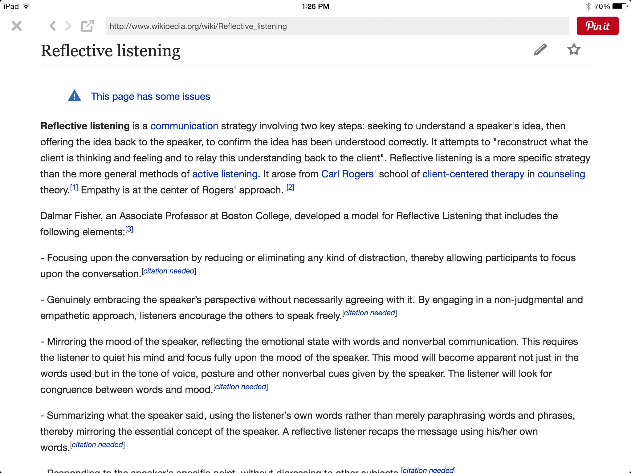 Reflective Listening From Wikipedia Mirroring And Paraphrasing