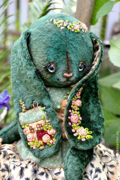 """Очаровательная плюшевая зайка """"Веравика"""" — работа дня на Ярмарке Мастеров  #teddy #ooak"""