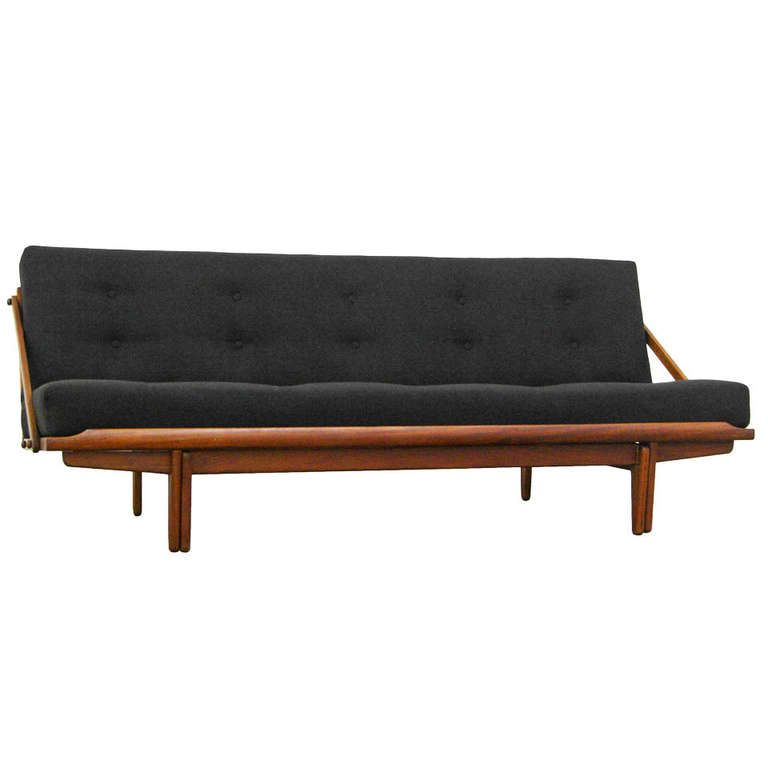 Sofa Daybed By Poul M. Volther, Teak, Mid Century Danish Modern,