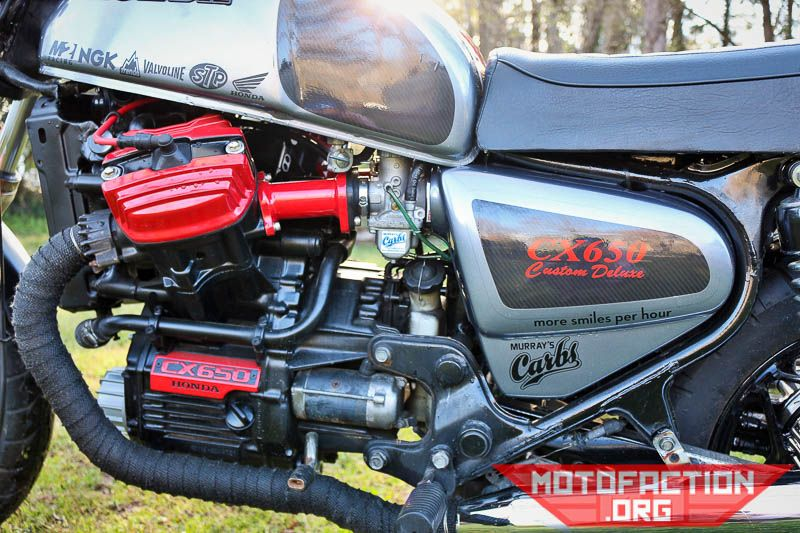 Here's a Honda CX500 cafe racer build by Murray Feldman of Murray's