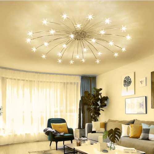 Star Chandelier Chandelier In Living Room High Ceiling Living Room Modern Lighting Chandeliers