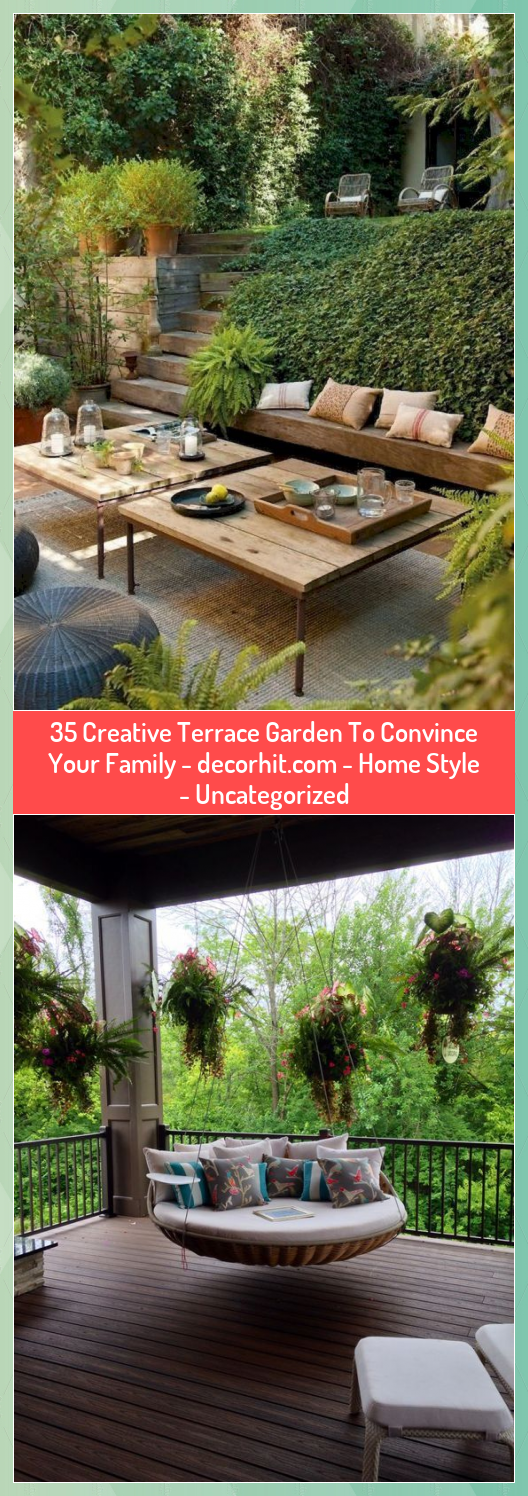 35 Creative Terrace Garden To Convince Your Family   Home Style  Uncategorized