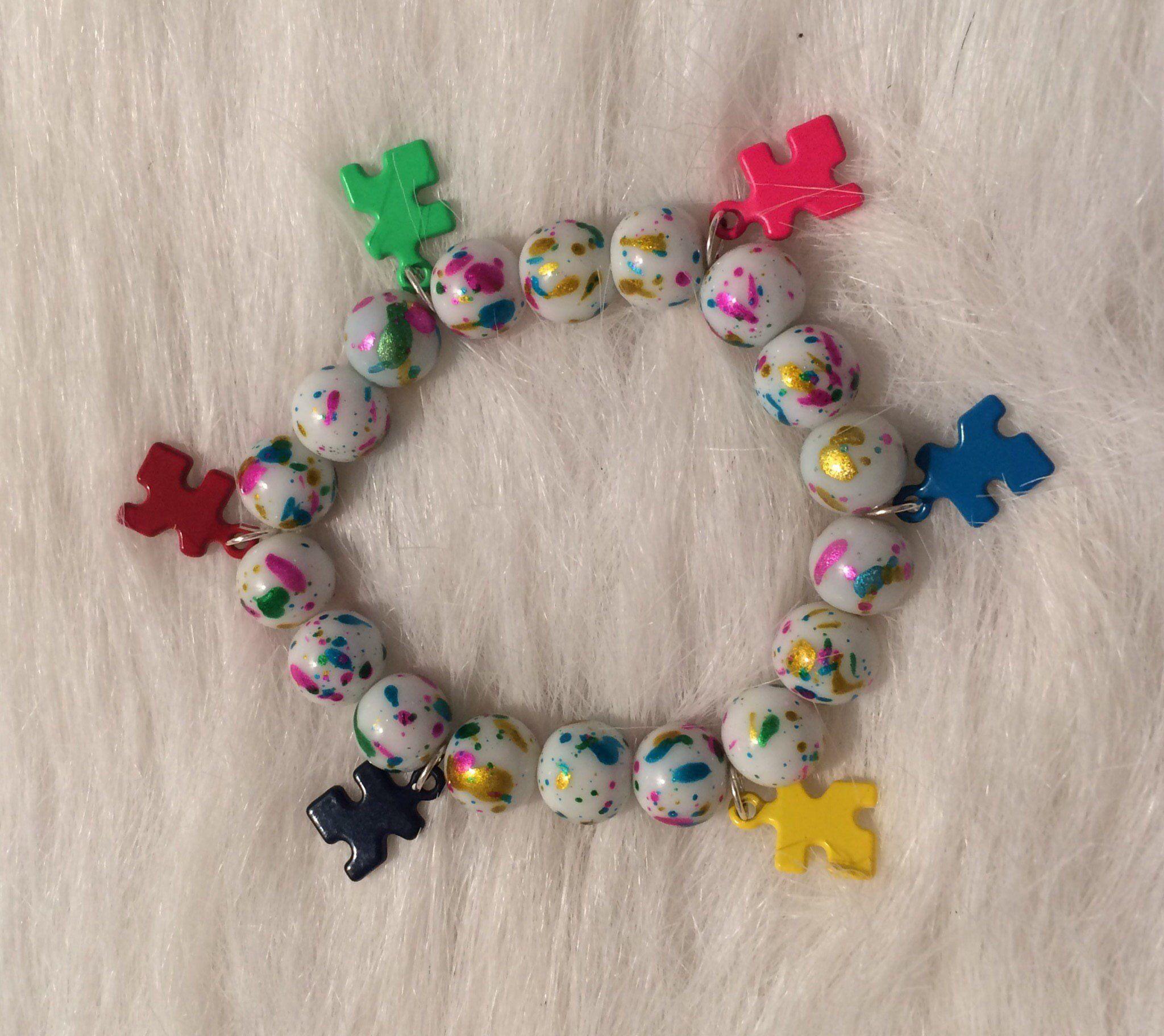 Autism Bracelet Puzzle Piece Jewelry