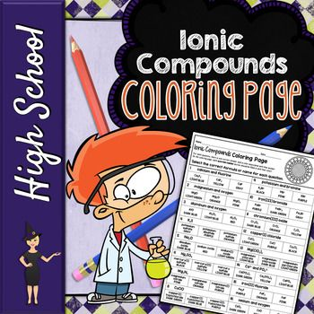 Ionic Compound Formulas Coloring Page Ionic Compound How To