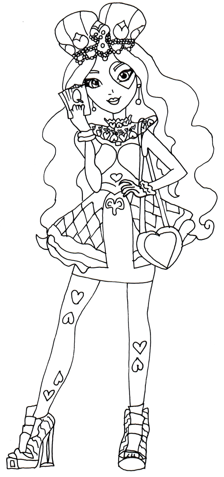 Lizzie Hearts Ever After High Coloring Page Heart Coloring Pages