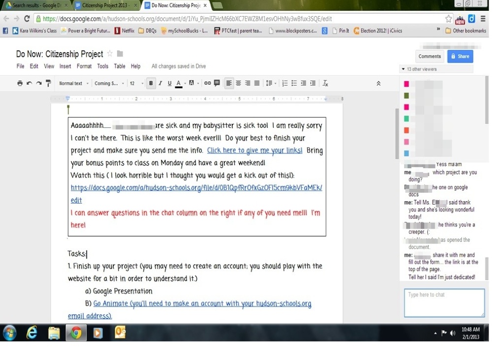 My Flipped Upside Down Classroom Thank You Google Drive