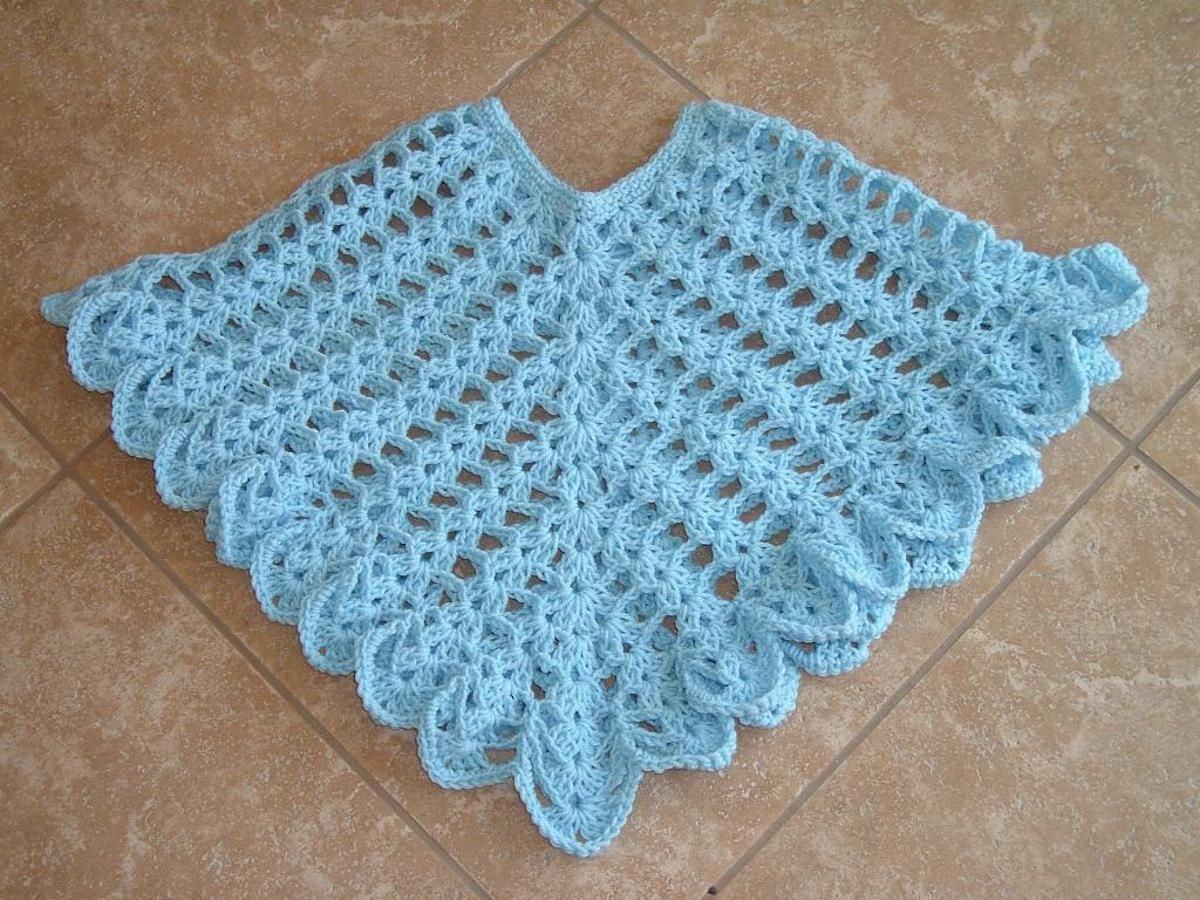 Sheer Heaven Crochet Poncho Pattern | Craftsy | Ponchos | Pinterest ...