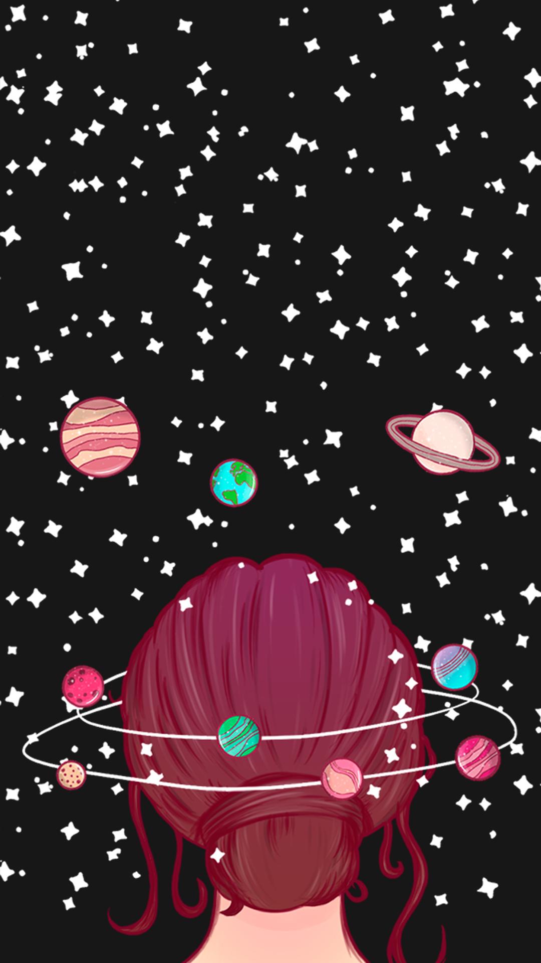 Wallpaper Mente Universo 1, stars, estrelas, planets, planetas, girl, garota, galáxia, galaxy, girly, cute, planets, aries, gemini, aquarius, taurus, libra, virgo, capricorn, sagittarius, scorpio, leo, pisces, áries, gêmeos, aquário, touro, libra, virgem, capricórnio, sagitário, escorpião, leão, peixes, planetas, estrelas, lua, espaço sideral, infinito, #gocase, #lovegocase, #galaxy, #girl, #wallpaper, #papeldeparede
