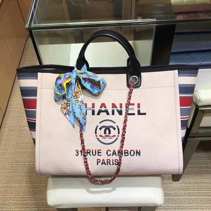 f73e8e162718 Chanel Coco Bags for Sale: Chanel Canvas Deauville Shopping Bag 100%  Authentic