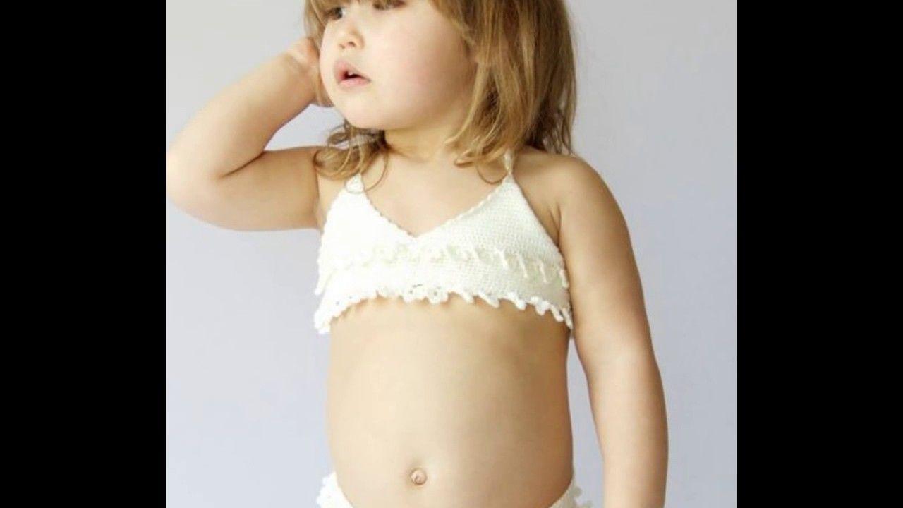 Traje De Baño para niñas tejidos a ganchillo   Traje de ...