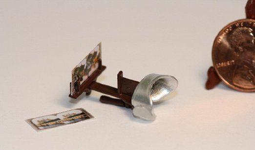 "Dollhouse Miniature Chrysnbon Stereoscope ""Vintage Look"""