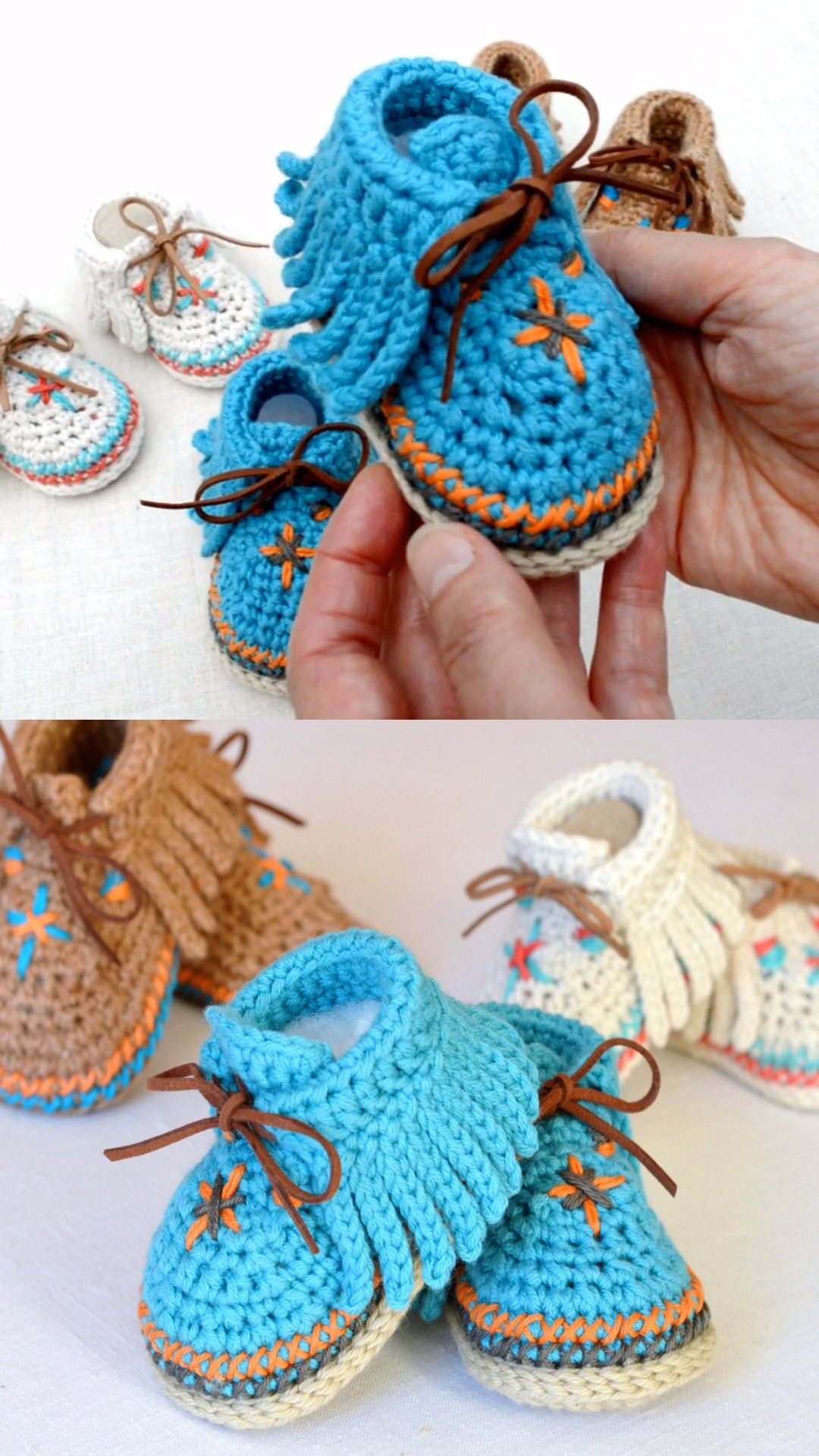 Photo of Crochet Baby Moccasins