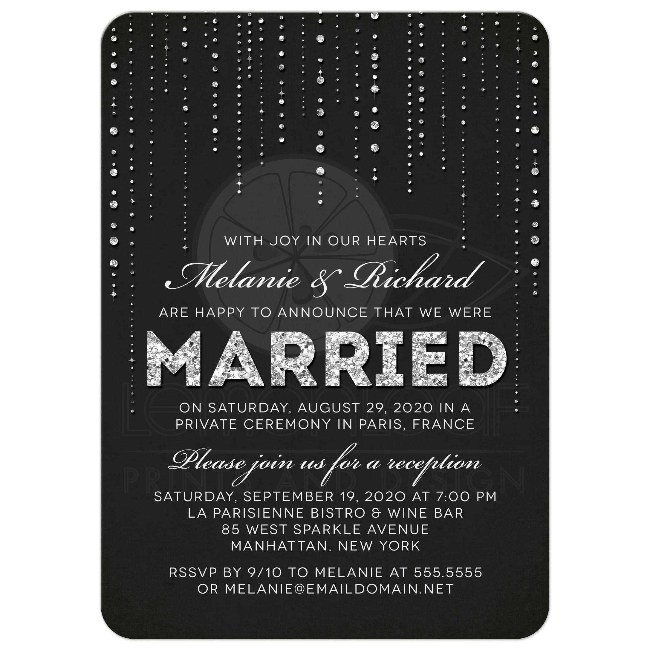 Post Wedding Party Invitation Wording: Post Wedding Reception Only Invitations