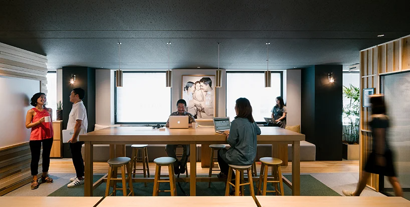 airbnb's tokyo office provides respite from hectic city life in 2020 | Airbnb office. Office interior design. Office interiors