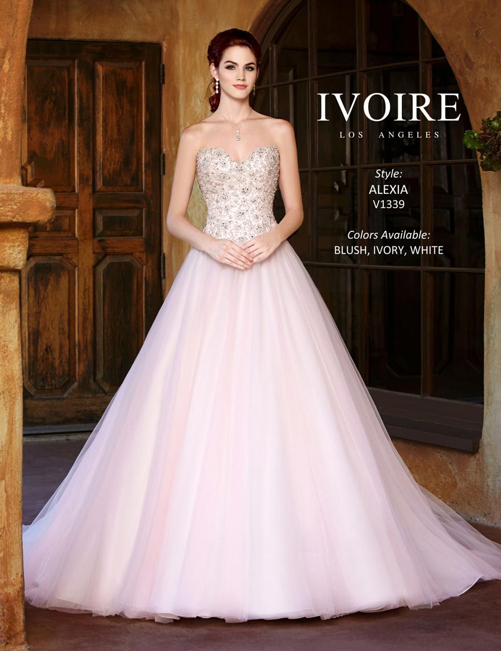 Wedding dress pink and white wedding ideas pastel pink wedding dress from kitty chen vestidos de noiva ombrellifo Gallery