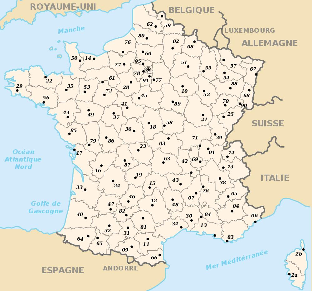 carte de france departement yonne