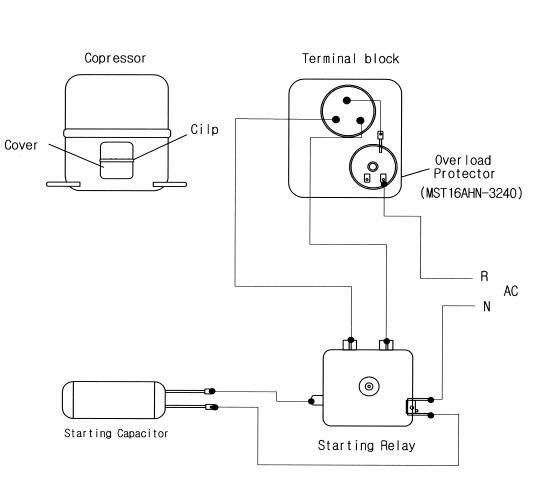 Control Wiring Diagram For Sanyo Cae2420z Sanyo Diagram Compressor