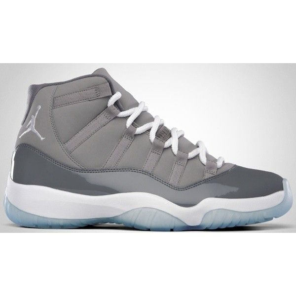 "Nike Air Jordan Retro 11 ""Cool Grey"" Sneakers UpscaleHype ❤ liked on  Polyvore featuring shoes db3731724c46"