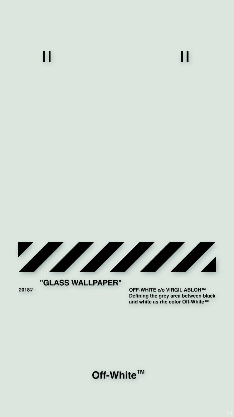 Off White Wallpaper Iphone 壁紙 18 5 2 4 Glass Wallpaper