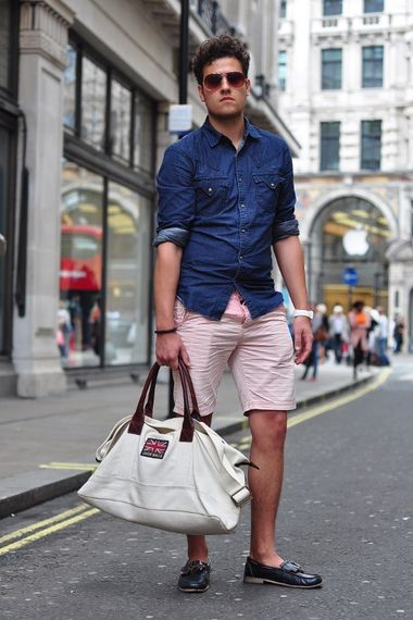 denim shirt pink shorts added by thenyanzireport