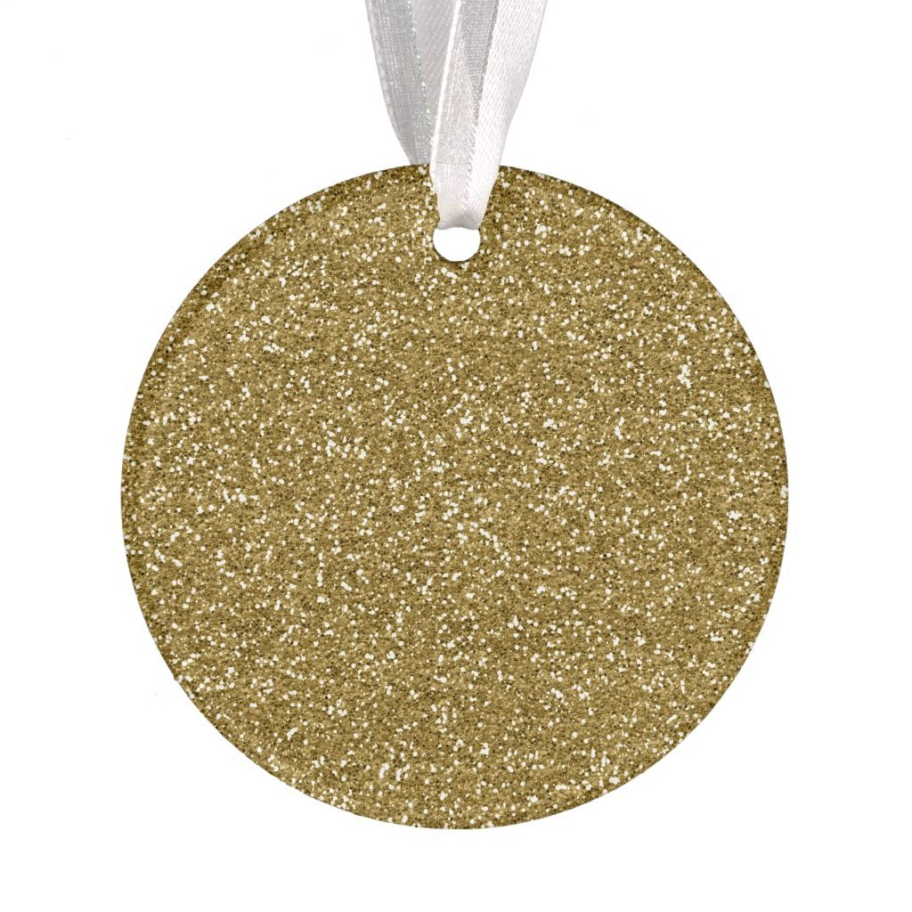 Gold Glitter Background Template Ornament | Zazzle.com #goldglitterbackground