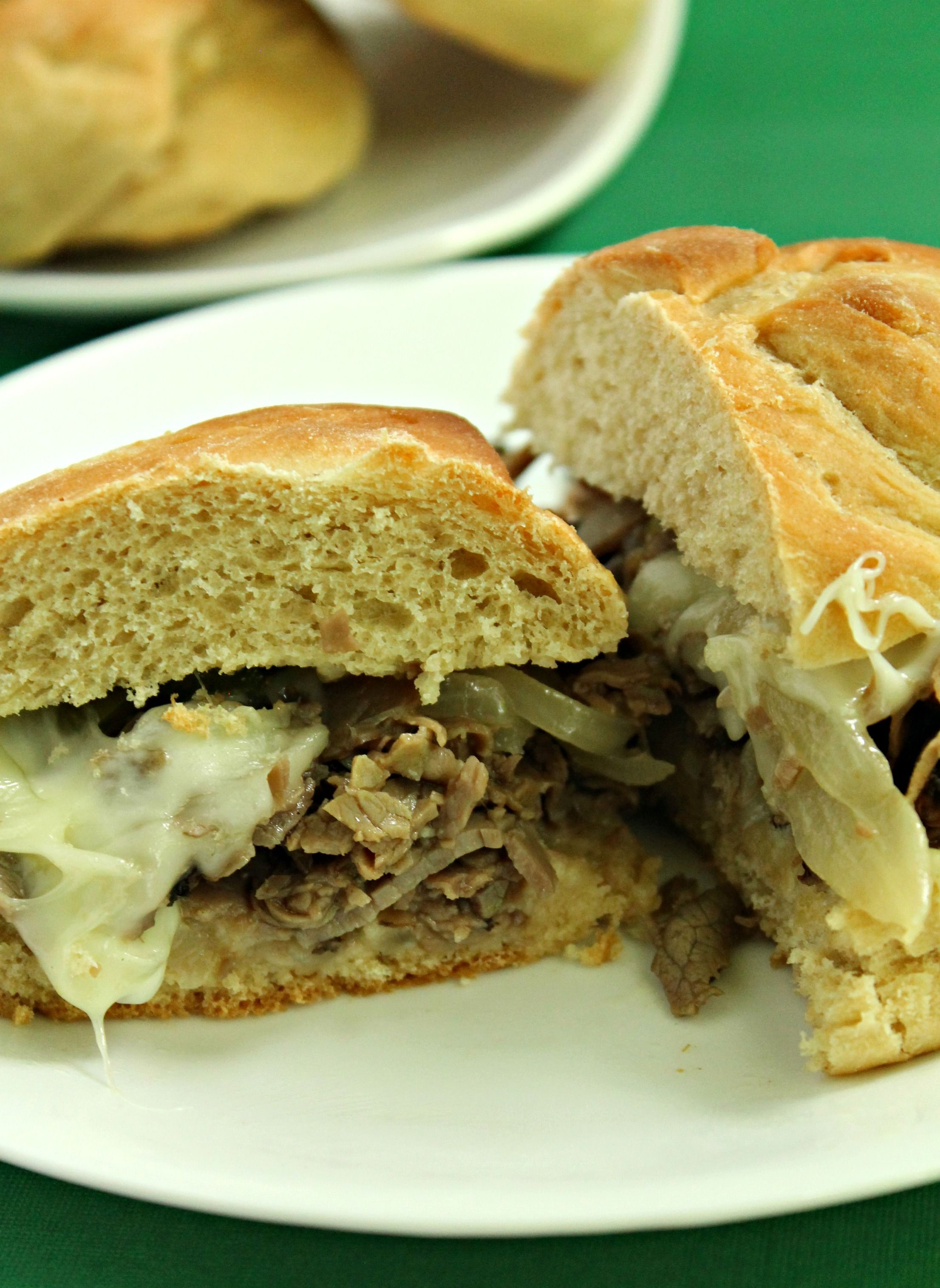 Cheesesteak.  Quick and easy dinner!