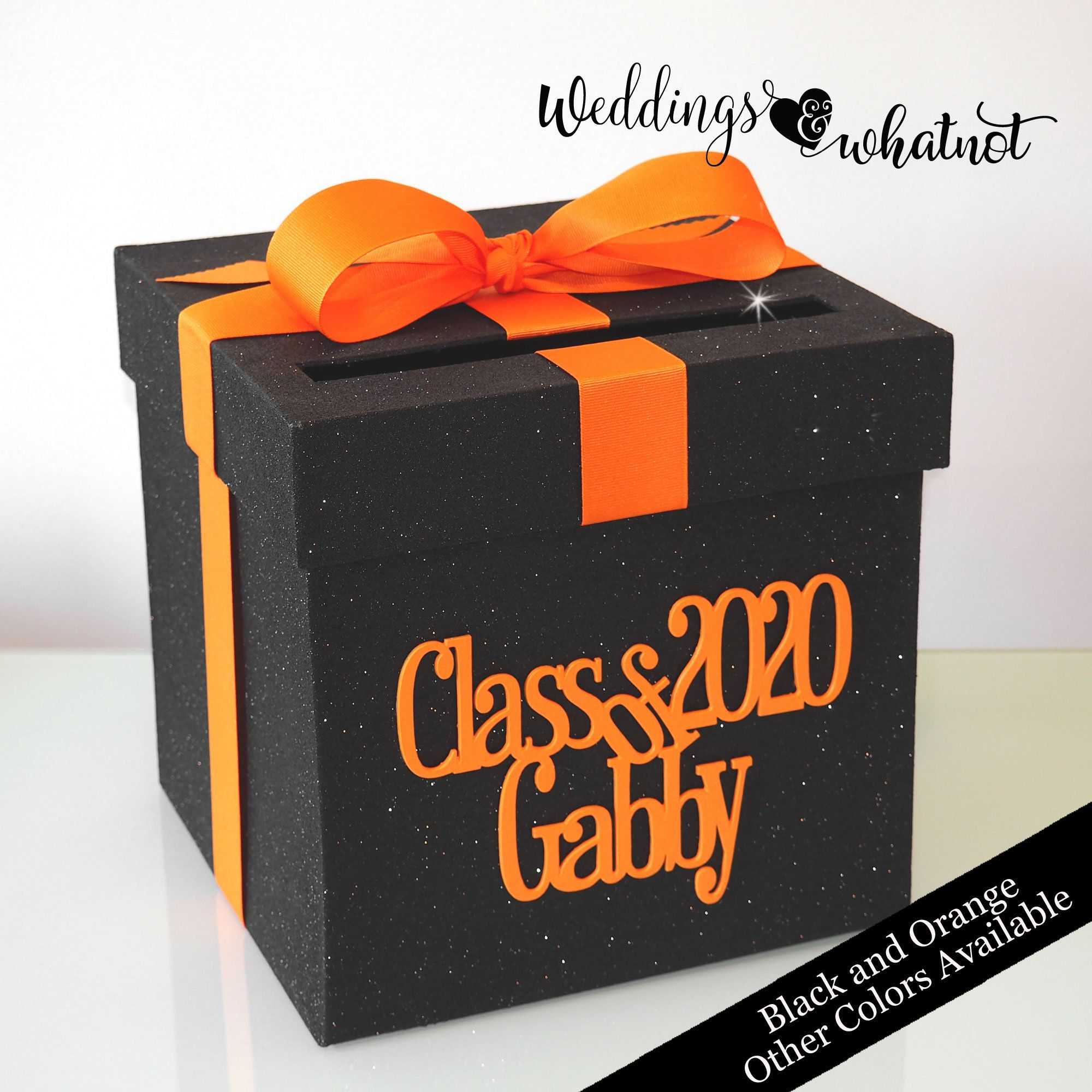 black graduation card box other colors availableclass of